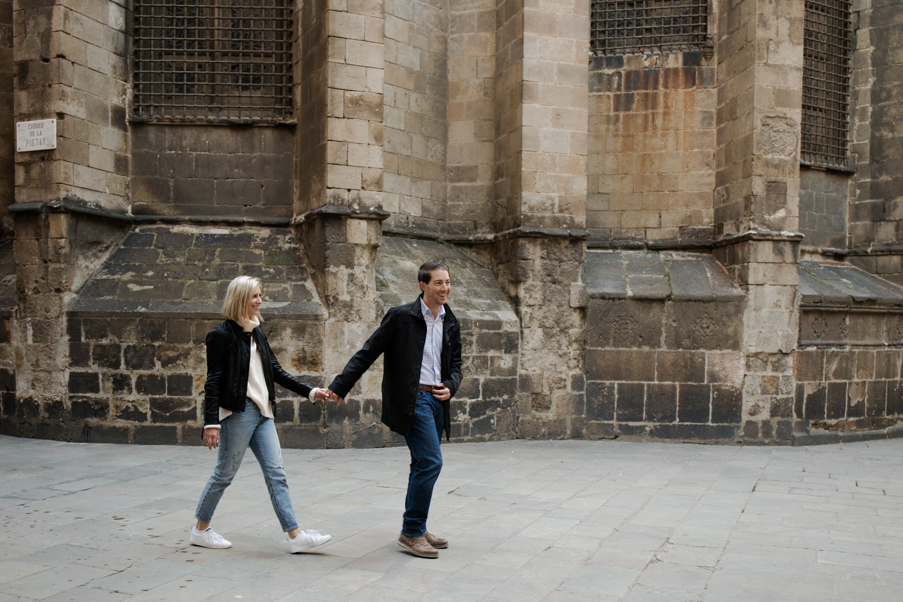 engagement in Gothic, Barcelona