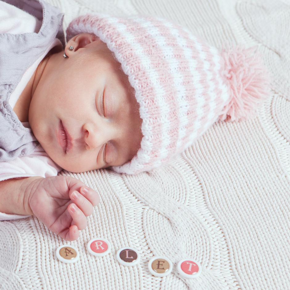 La pequeña Arlet con 13 días